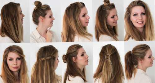 Причёски на средние волосы на каждый  день: виды