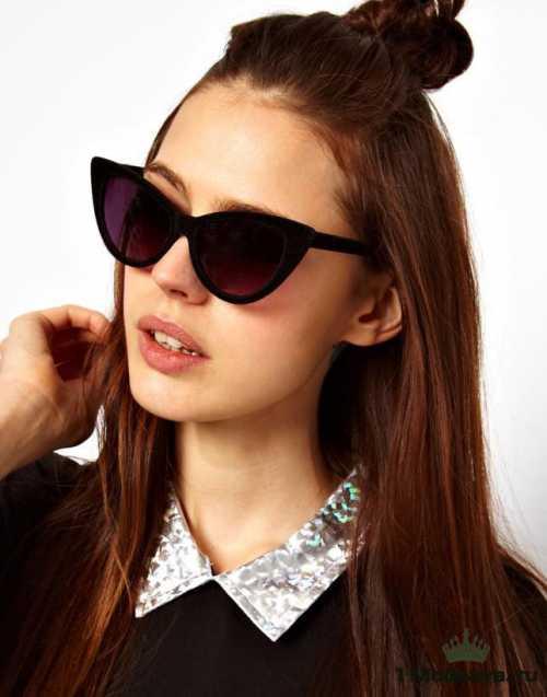 Ну и для универсального овального типа лица очки кошачий глаз, которые представлены в нашем интернет магазине станут украшением