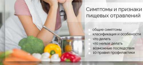 Пищевое отравление: симптомы, причины, это