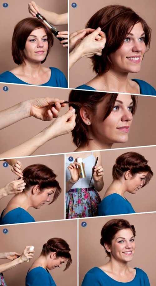 Укладка коротких волос в домашних условиях