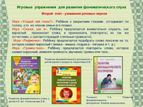 Комплекс упражнений для развития фонематического