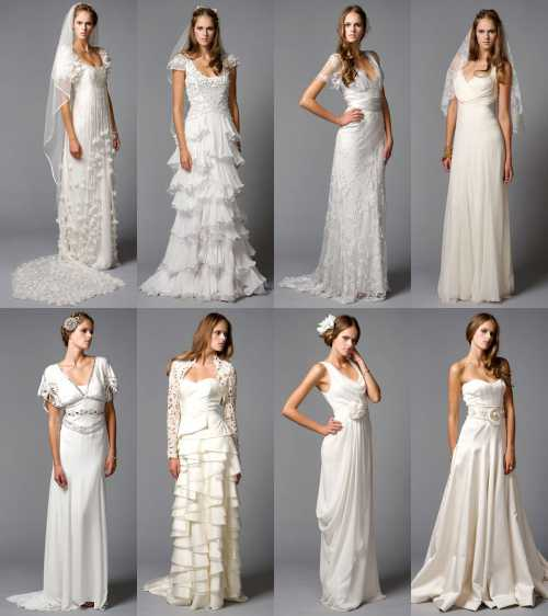 Виды свадебных платьев