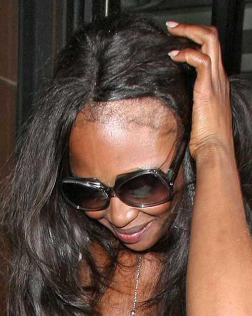 Наоми Кэмпбелл без парика