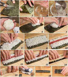 Как готовить суши дома