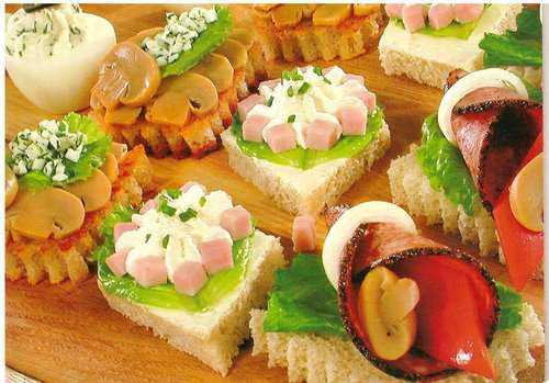 Закуски и бутерброды