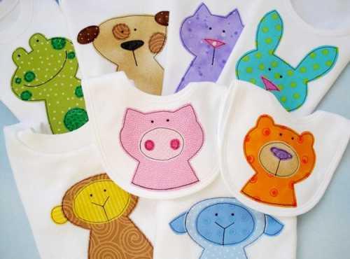 Аппликации на одежду детям