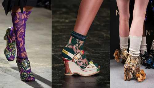 Тренд 2018: туфли с носками