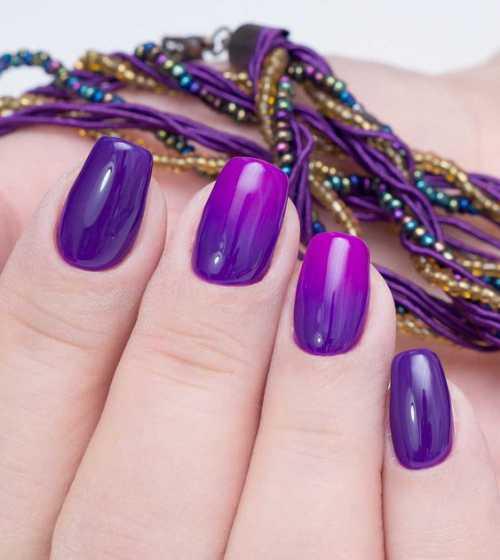 Ультрафиолетовый маникюр: 10 лучших вариантов