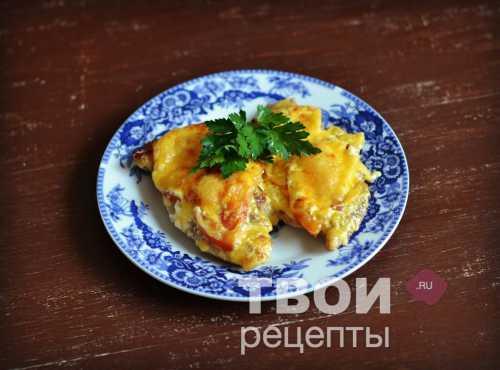 Рецепт отбивных из свинины с помидорами и сыром,